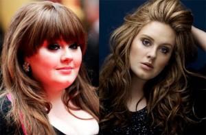 Adele antes-después peso