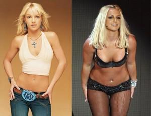 Britney Spears antes-después peso
