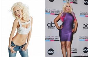 Christina Aguilera antes-después peso