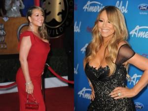 Mariah Carey antes-después peso