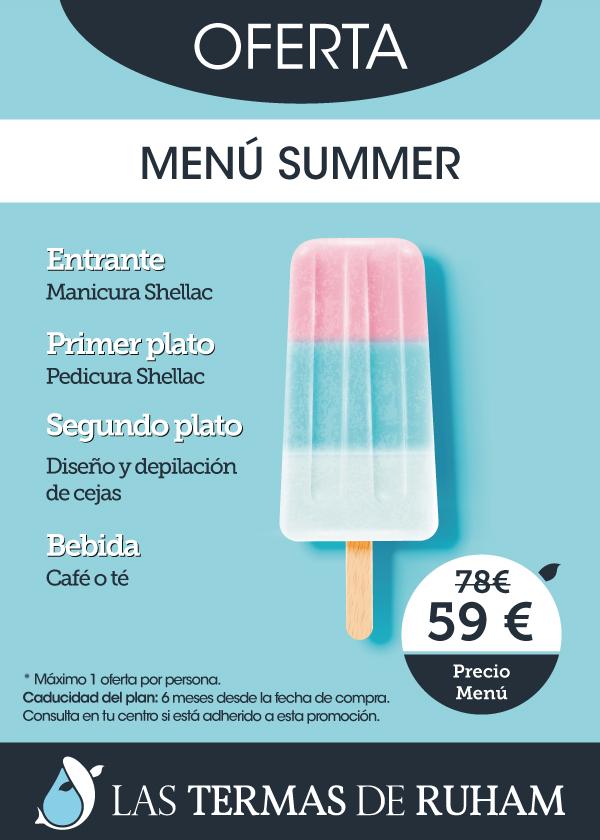 Menú summer manicura shellac