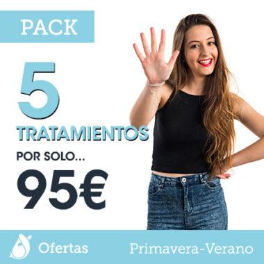 Pack 5 tratamientos por solo 95 euros