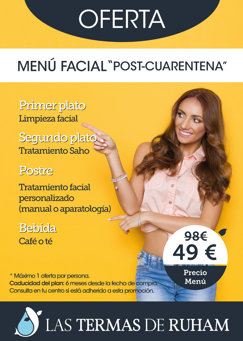 Menú Facial Post Cuarentena