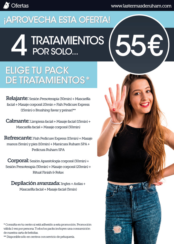 Poster pack tratamientos 4 por 55 Oferta