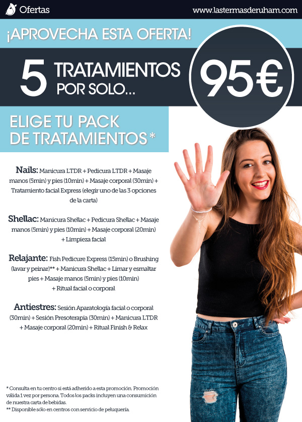 Poster Pack Tratamientos 5 por 95 Oferta